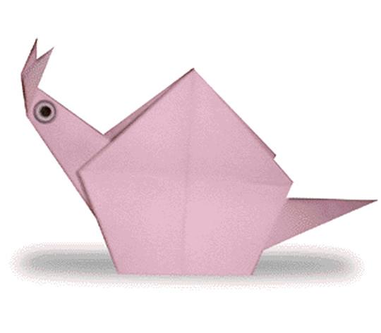 おりがみくらぶ(新宮文明)さんによるかたつむりの折り紙