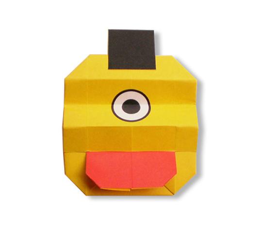 おりがみくらぶ(新宮文明)さんによるちょうちんおばけの折り紙