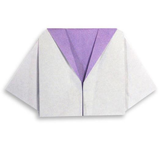 おりがみくらぶ(新宮文明)さんによるせーらーふくの折り紙