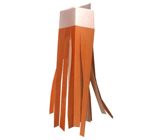 おりがみくらぶ(新宮文明)さんによるじゅうじふきながしの折り紙
