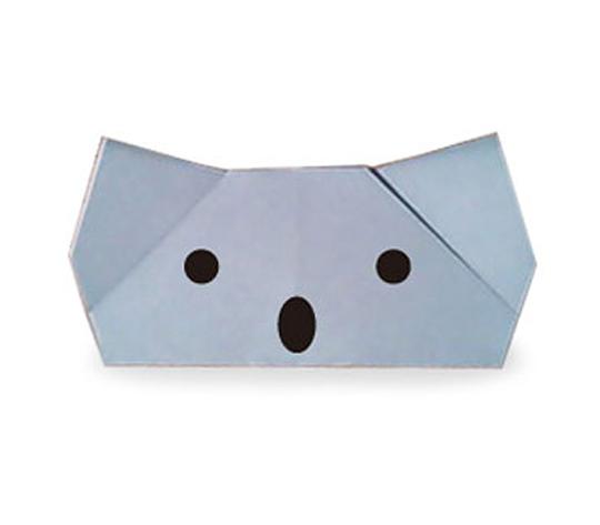 おりがみくらぶ(新宮文明)さんによるこあらのゆびにんぎょうの折り紙