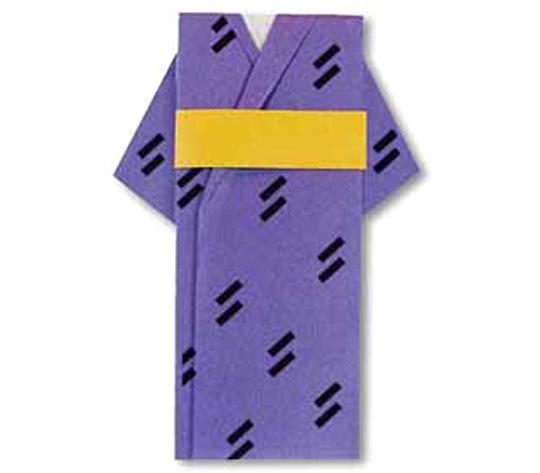 おりがみくらぶ(新宮文明)さんによるゆかたとおびの折り紙