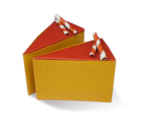 おりがみくらぶ(新宮文明)さんによるちょこれーとけーきの折り紙