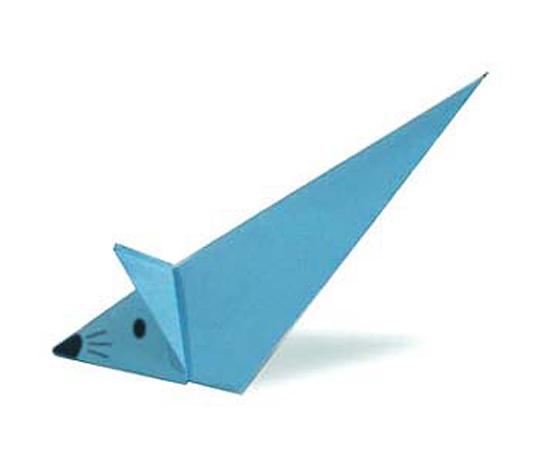 おりがみくらぶ(新宮文明)さんによるねずみ ちょろちょろの折り紙