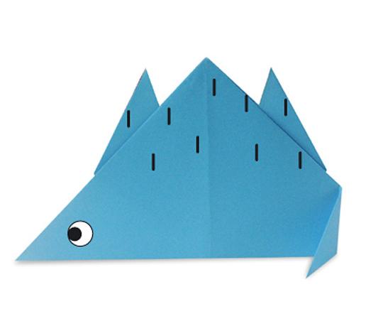 おりがみくらぶ(新宮文明)さんによるすてごさうるすの折り紙