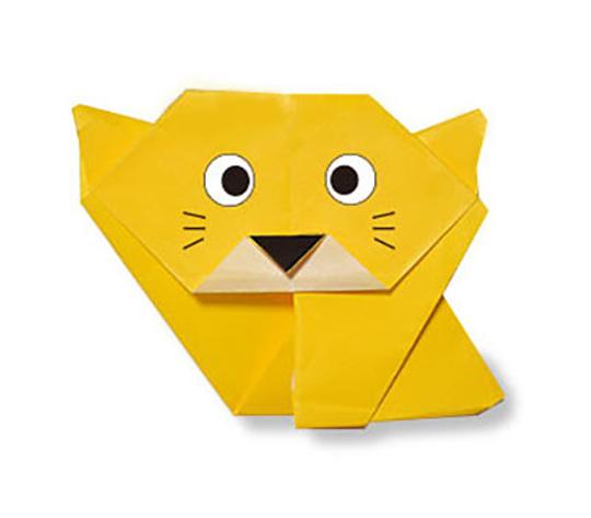 おりがみくらぶ(新宮文明)さんによるねこ3の折り紙