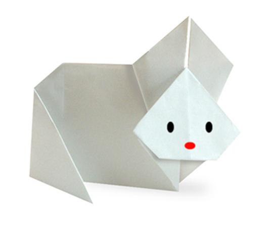 おりがみくらぶ(新宮文明)さんによるうさぎ2の折り紙