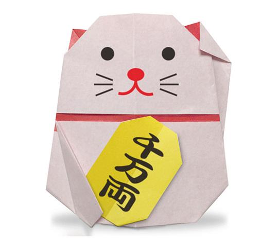 おりがみくらぶ(新宮文明)さんによるまねきねこの折り紙
