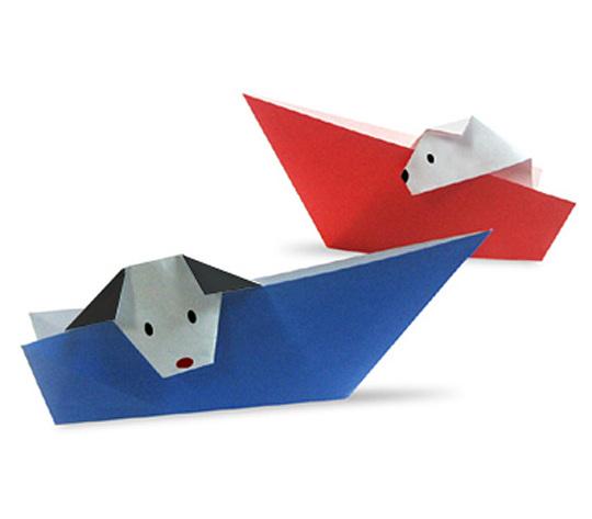 おりがみくらぶ(新宮文明)さんによるぼーとにのったいね2の折り紙