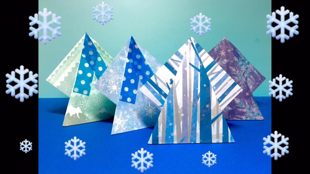 Oriya小町さんによるかんたんスタンドツリーの折り紙