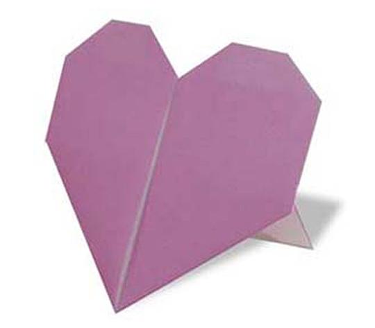 おりがみくらぶ(新宮文明)さんによるすたんどはーとの折り紙