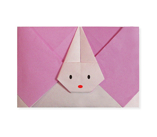 おりがみくらぶ(新宮文明)さんによるうさぎのてがみの折り紙