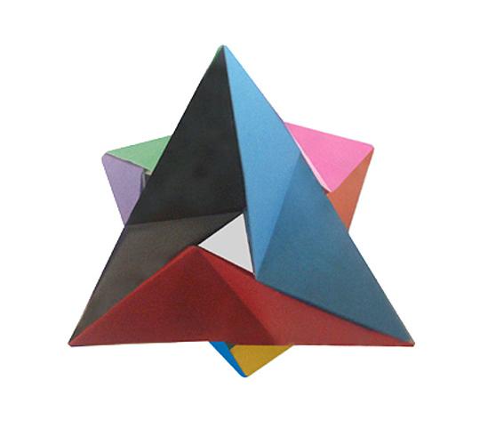 おりがみくらぶ(新宮文明)さんによる四面三角ゆにっとの折り紙