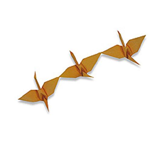 オリカタ公式さんによる《伝承》連鶴2の折り紙
