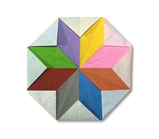おりがみくらぶ(新宮文明)さんによるぱたーん 5の折り紙