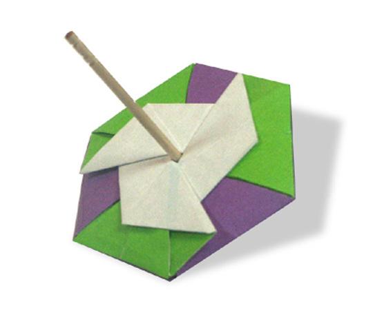 おりがみくらぶ(新宮文明)さんによるこまの折り紙