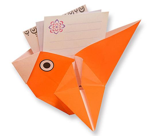 おりがみくらぶ(新宮文明)さんによるとりのこものいれの折り紙