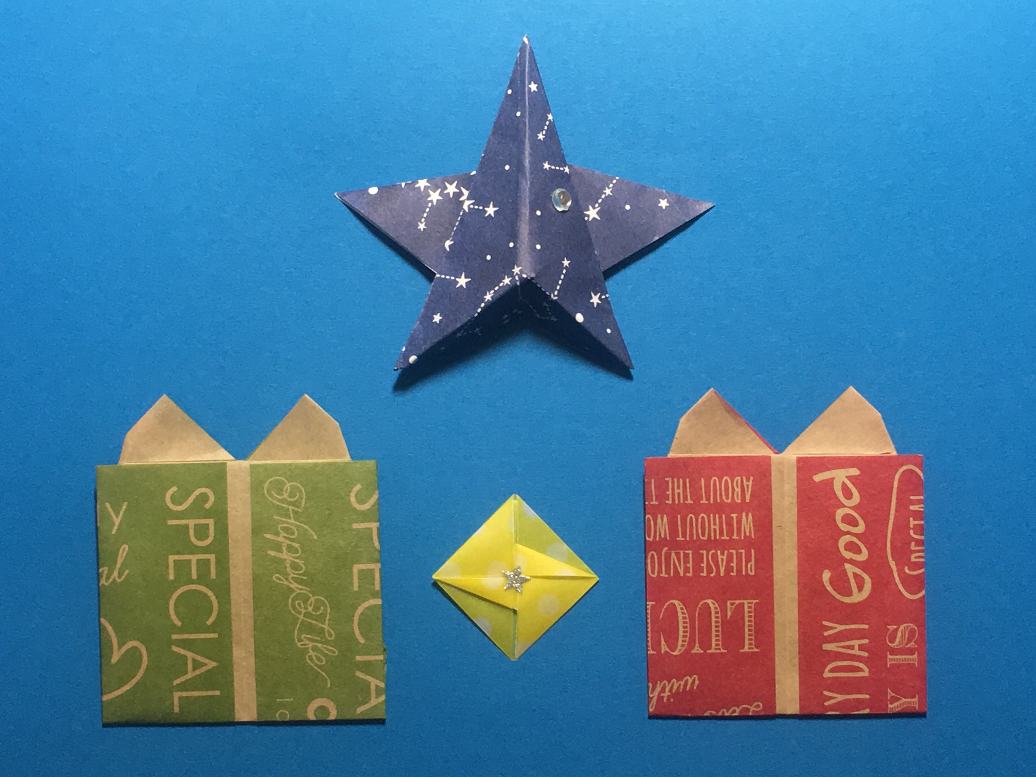 Oriya小町さんによるギフトボックスの折り紙