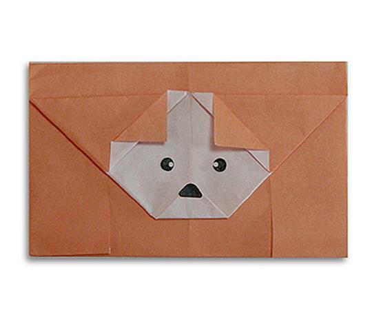 おりがみくらぶ(新宮文明)さんによるいぬのてがみの折り紙