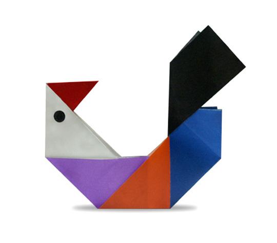 おりがみくらぶ(新宮文明)さんによるにわとりの折り紙