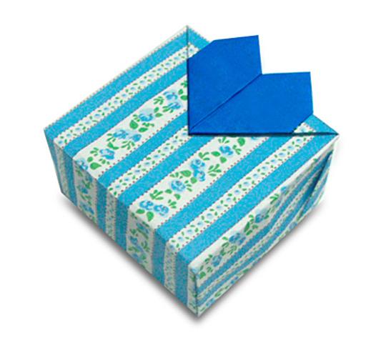 おりがみくらぶ(新宮文明)さんによるはーとはこの折り紙