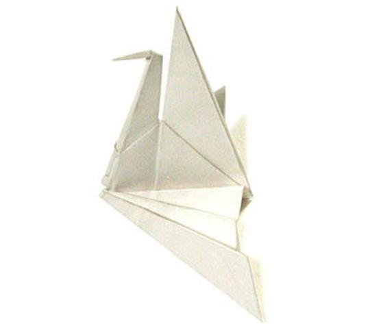 オリカタ公式さんによる《伝承》折り羽鶴の折り紙