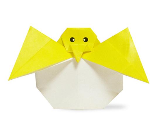 おりがみくらぶ(新宮文明)さんによるたまごひよこの折り紙