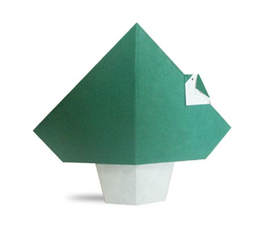 おりがみくらぶ(新宮文明)さんによるきとことりの折り紙
