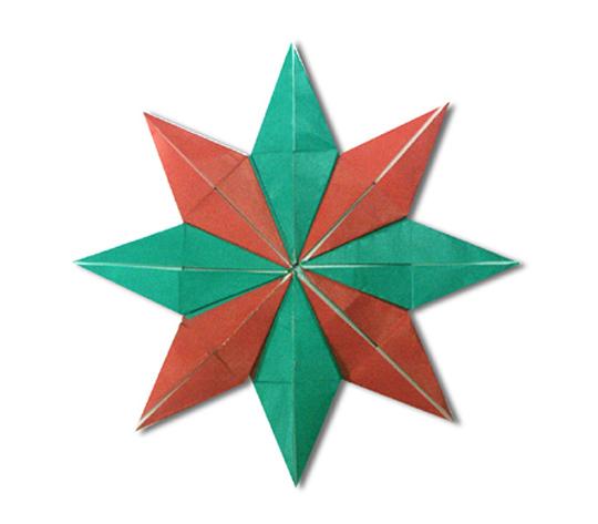 おりがみくらぶ(新宮文明)さんによるぱたーん 8の折り紙