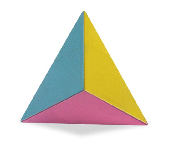 おりがみくらぶ(新宮文明)さんによるからー両三角錐の折り紙