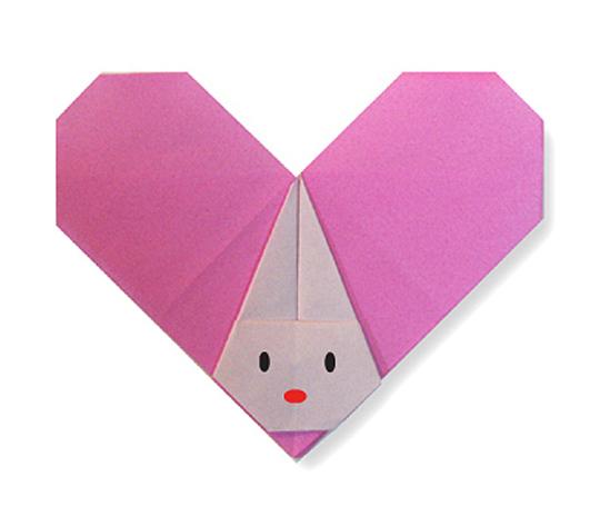 おりがみくらぶ(新宮文明)さんによるはーとうさぎの折り紙