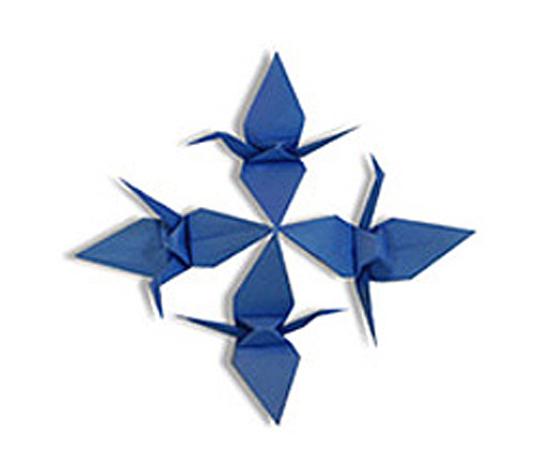 オリカタ公式さんによる《伝承》連鶴1の折り紙