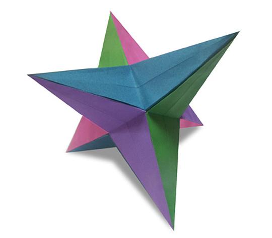 おりがみくらぶ(新宮文明)さんによる星形ゆにっと2の折り紙