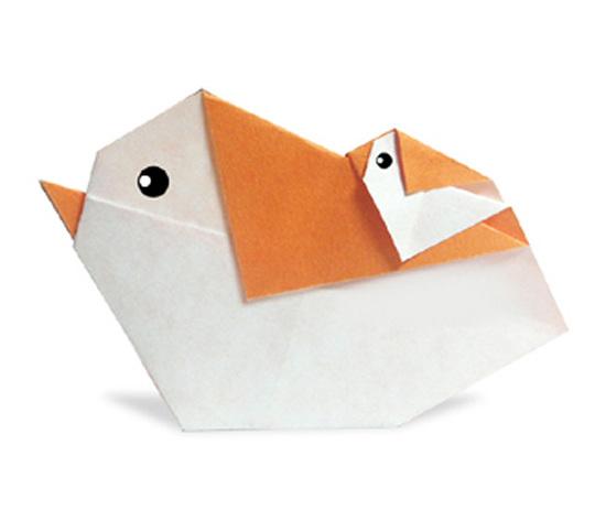 おりがみくらぶ(新宮文明)さんによるおんぶことりの折り紙