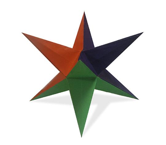 おりがみくらぶ(新宮文明)さんによる星形ゆにっとの折り紙