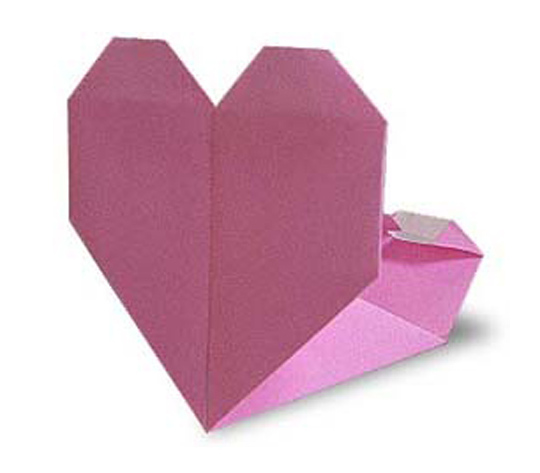 おりがみくらぶ(新宮文明)さんによるはーとのこものいれの折り紙