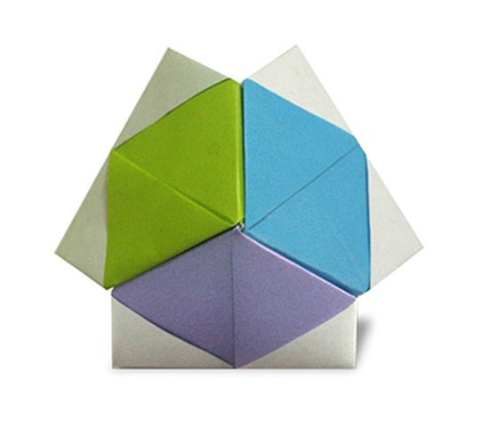 おりがみくらぶ(新宮文明)さんによる3点ゆにっとの折り紙