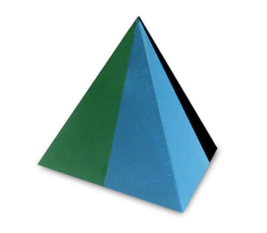 おりがみくらぶ(新宮文明)さんによる二色正三角錐の折り紙