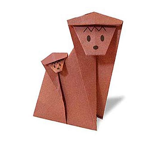 おりがみくらぶ(新宮文明)さんによるおんぶざるの折り紙