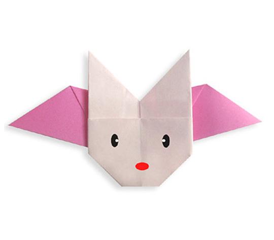 おりがみくらぶ(新宮文明)さんによるはねつきうさぎの折り紙