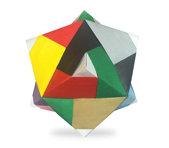 おりがみくらぶ(新宮文明)さんによるらいん24面体の折り紙