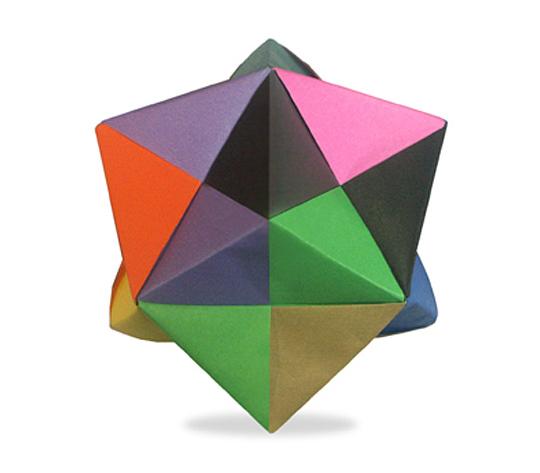 おりがみくらぶ(新宮文明)さんによる24面体の折り紙