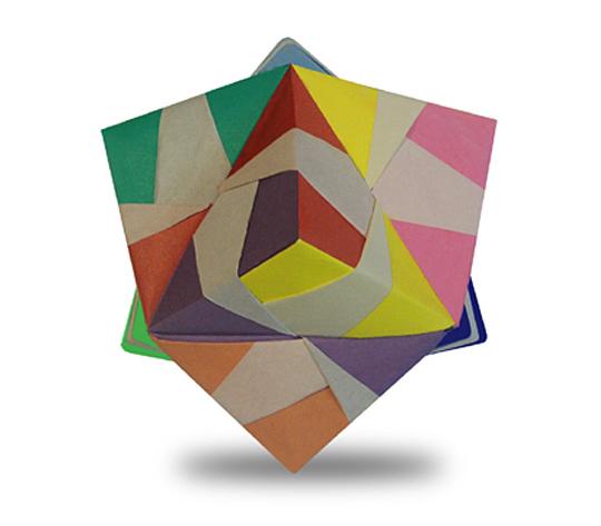 おりがみくらぶ(新宮文明)さんによる変形らいん24面体の折り紙