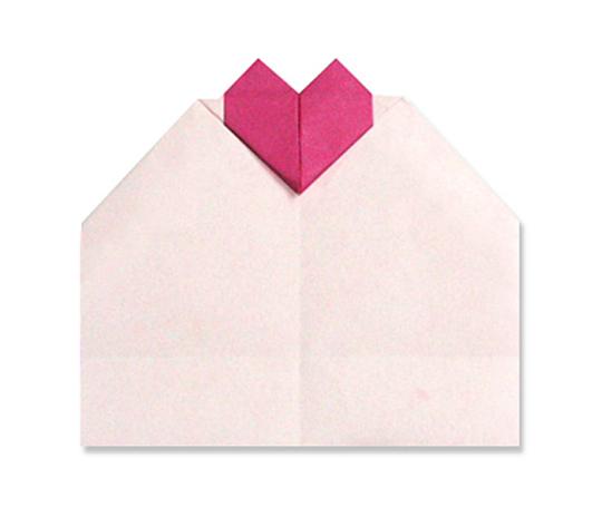 おりがみくらぶ(新宮文明)さんによるはーとめっせーじの折り紙