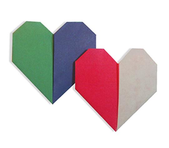 おりがみくらぶ(新宮文明)さんによる2色はーと 1の折り紙