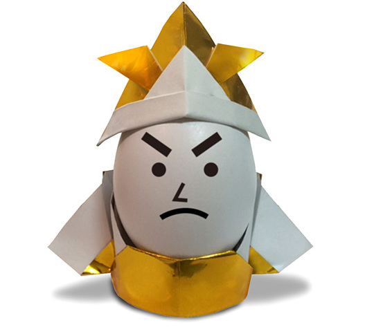 おりがみくらぶ(新宮文明)さんによるよろい(えっぐすたんど)の折り紙