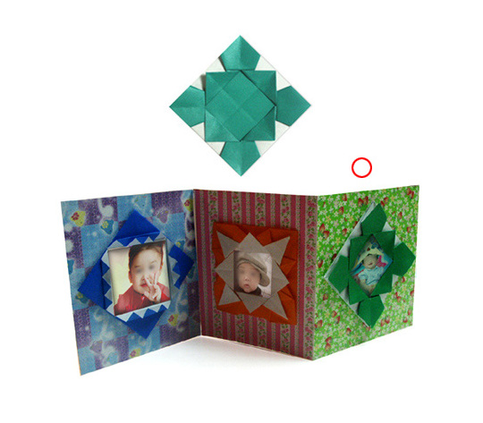 おりがみくらぶ(新宮文明)さんによるふぉとあるばむ3の折り紙