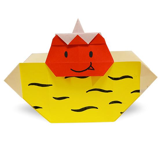 おりがみくらぶ(新宮文明)さんによるおにのまめいれ2の折り紙