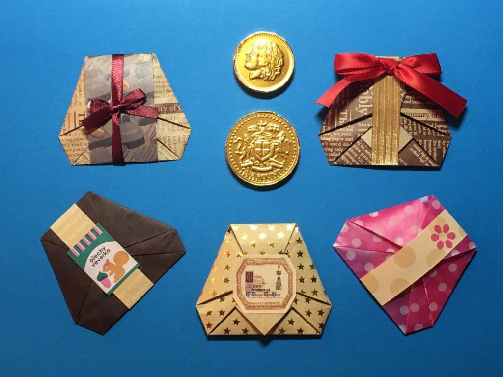 Oriya小町さんによる小さなギフトラッピングの折り紙