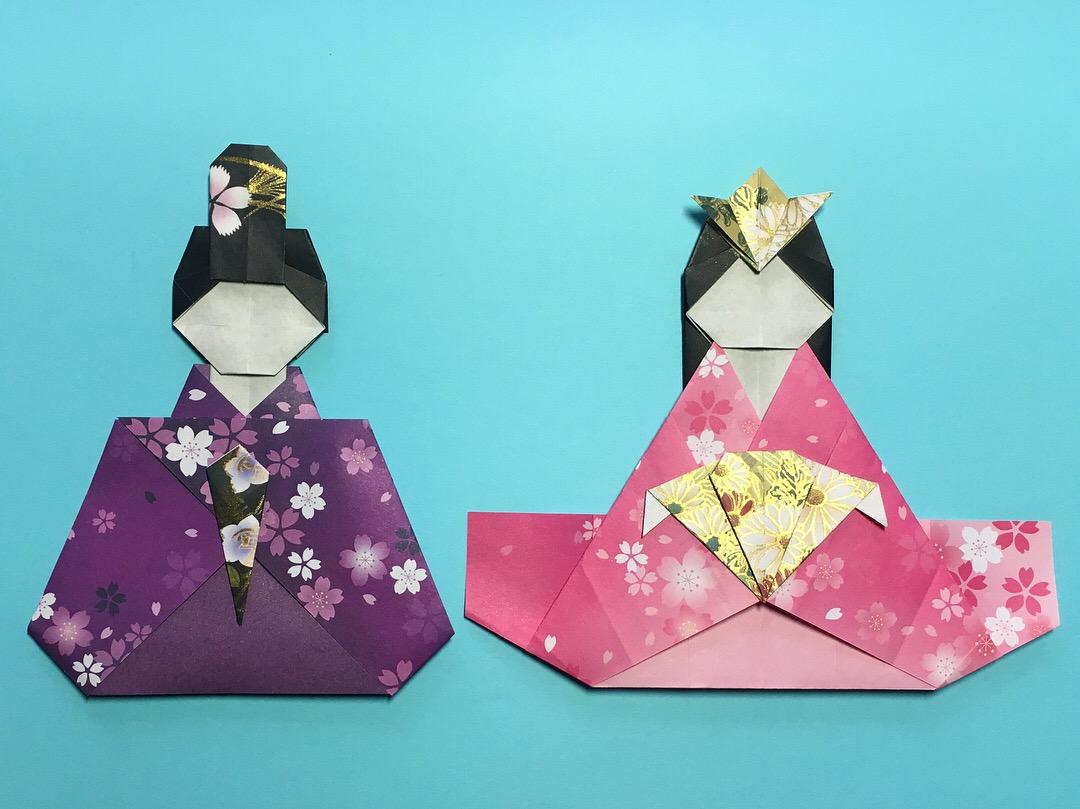Oriya小町さんによる本物みたいなおひなさまの折り紙